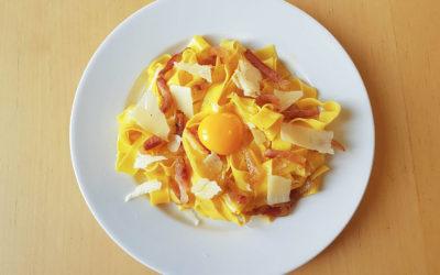Pâtes carbonara à l'italienne, la vraie recette d'Italie
